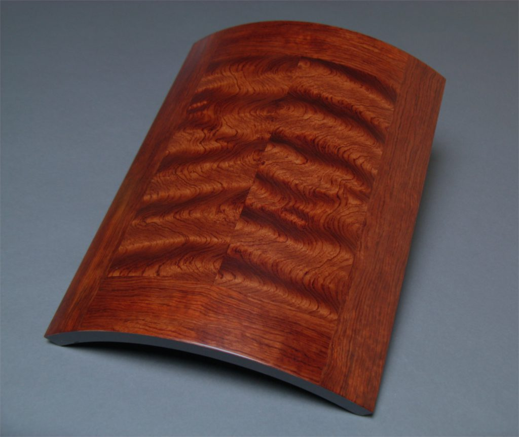 Curly Bubinga Curved Art Panel veneer wall