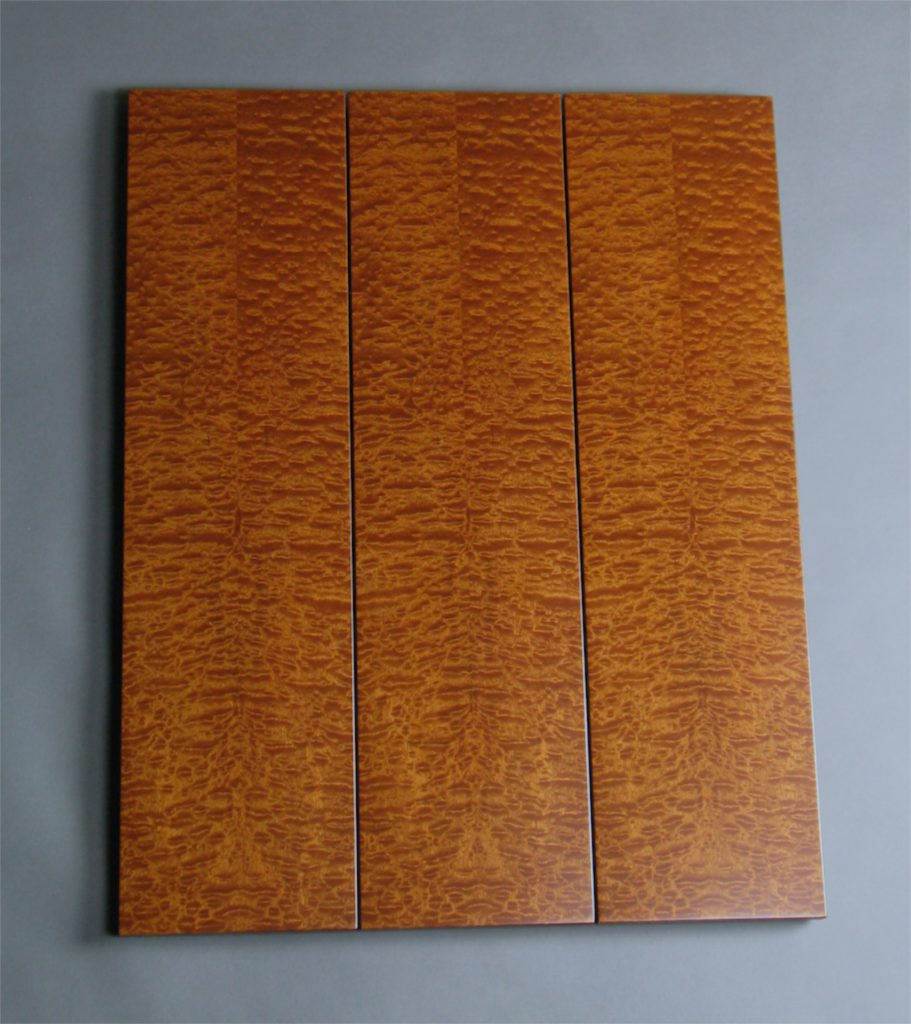 Sapele Pommele Tripple Art Wall Panel wood veneer