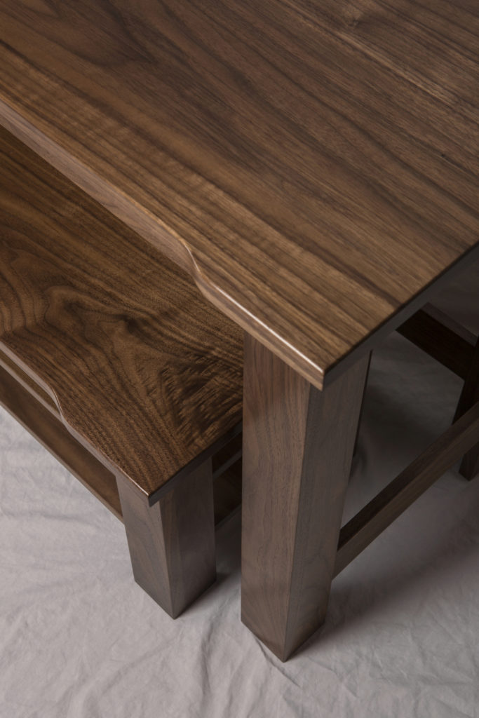 Walnut Nesting Tables Detail