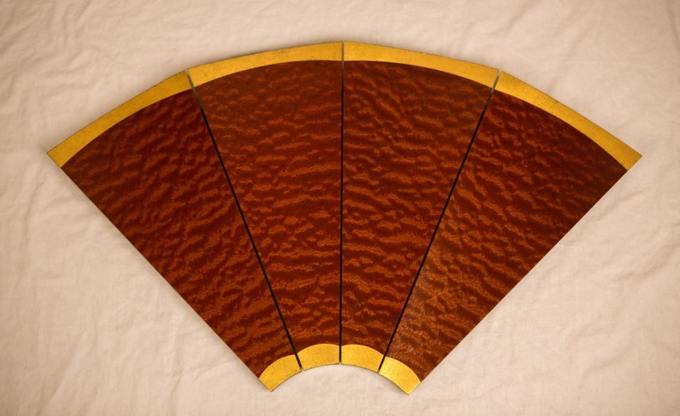 Sapele Art Wall Panel Fan veneer wood