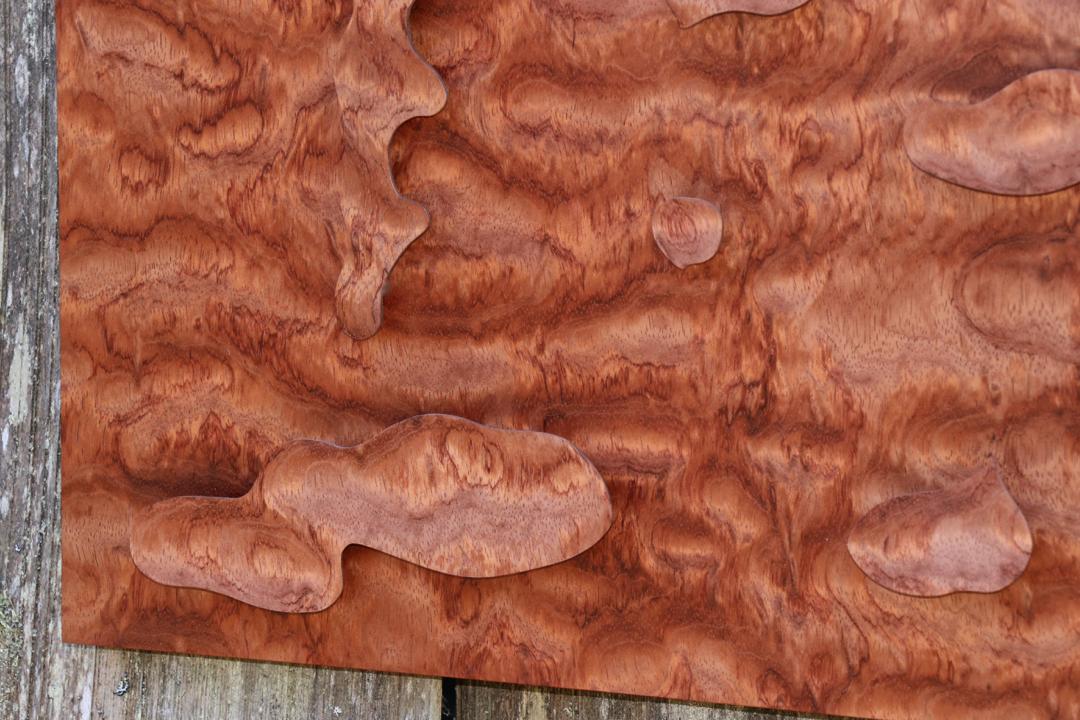 bubinga, art, veneer, art wall panel, veneer art