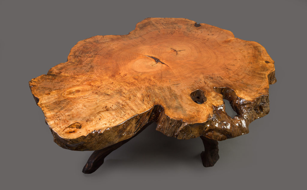Spalted Maple Slab Table solid wood