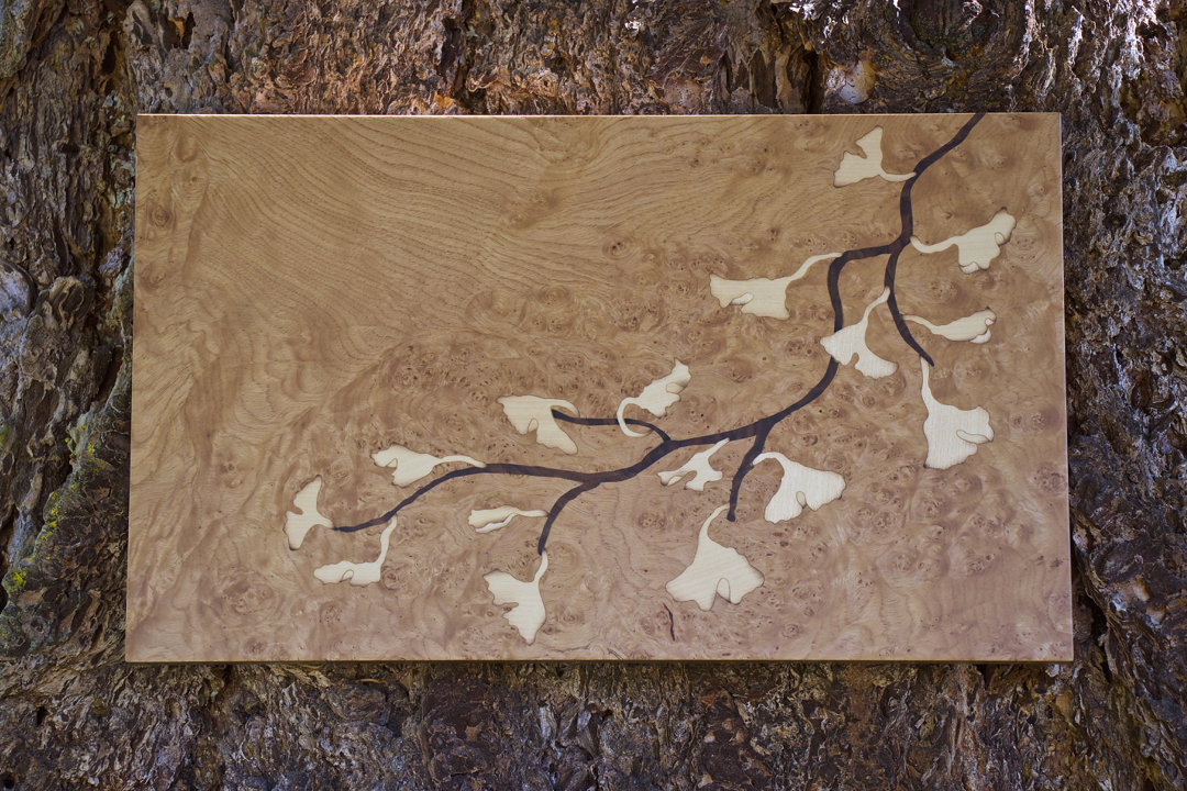 veneer, wood veneered artwork, bespoke, bespoke art, woodworking, custom art, custom art wall panel, fine woodworking, artwork, art wall panel, wood art, wood artwork, luxury art, luxury yacht, fine art, chestnut burl, walnut burl, maple,