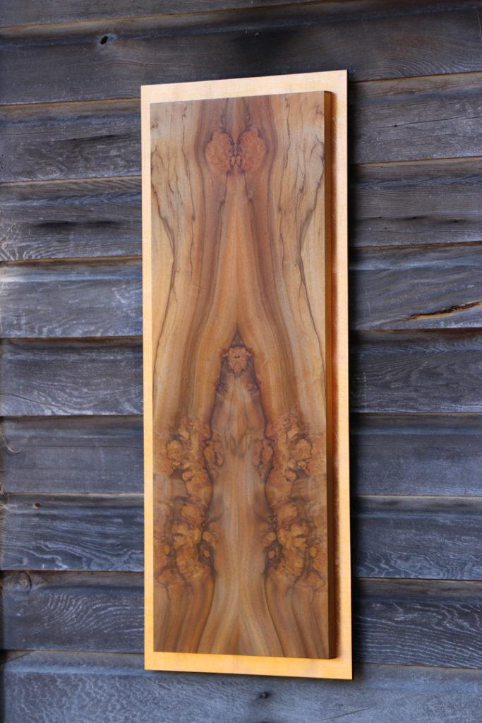 veneer, wood veneered artwork, bespoke, bespoke art, woodworking, custom art, custom art wall panel, fine woodworking, artwork, art wall panel, wood art, wood artwork, luxury art, luxury yacht, fine art, copper leaf, pepperwood, burl,