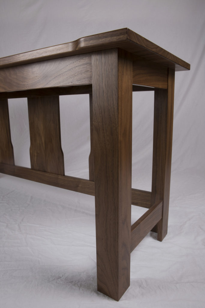 Walnut Hall Table Detail