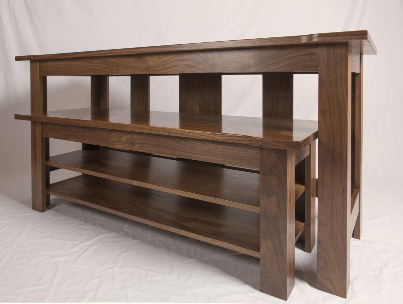 Walnut Nesting Tables Right
