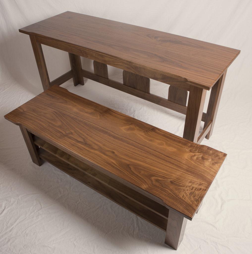 Walnut Nesting Tables Apart, veneer, wood veneered artwork, bespoke, bespoke art, woodworking, custom art, custom art wall panel, fine woodworking, artwork, art wall panel, wood art, wood artwork, luxury art, luxury yacht, fine art,