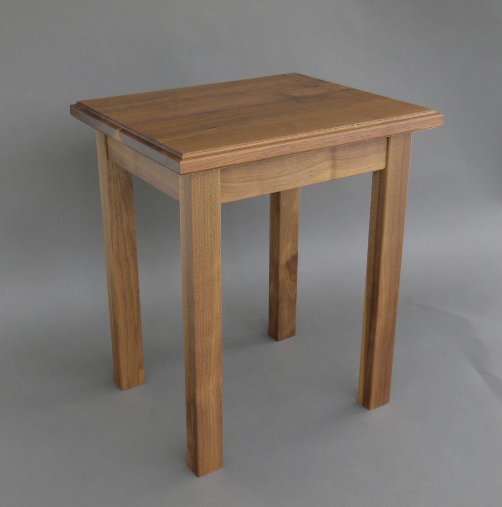 walnut end table solid furniture veneer, wood veneered artwork, bespoke, bespoke art, woodworking, custom art, custom art wall panel, fine woodworking, artwork, art wall panel, wood art, wood artwork, luxury art, luxury yacht, fine art,