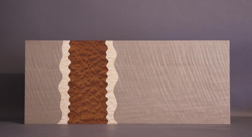 veneer, wood veneered artwork, bespoke, bespoke art, woodworking, custom art, custom art wall panel, fine woodworking, artwork, art wall panel, wood art, wood artwork, luxury art, luxury yacht, fine art, figured anegre, pommele sapele, quilted maple,